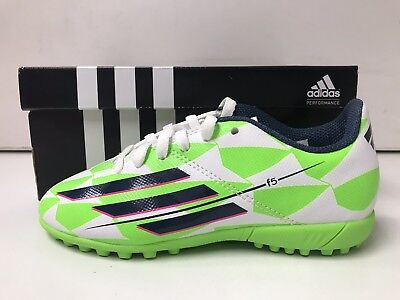 fce594525 Brand New Adidas Youth F5 Soccer Cleats Green White 12.5k Indoor In J