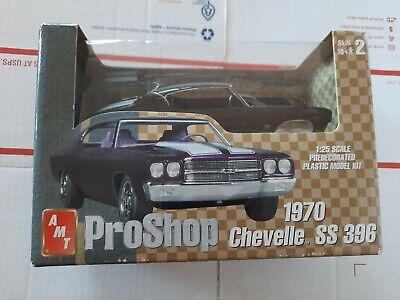 AMT PRO SHOP 1970 CHEVY CHEVELLE  SS396 1/25  MODEL KIT (BOX WEAR)