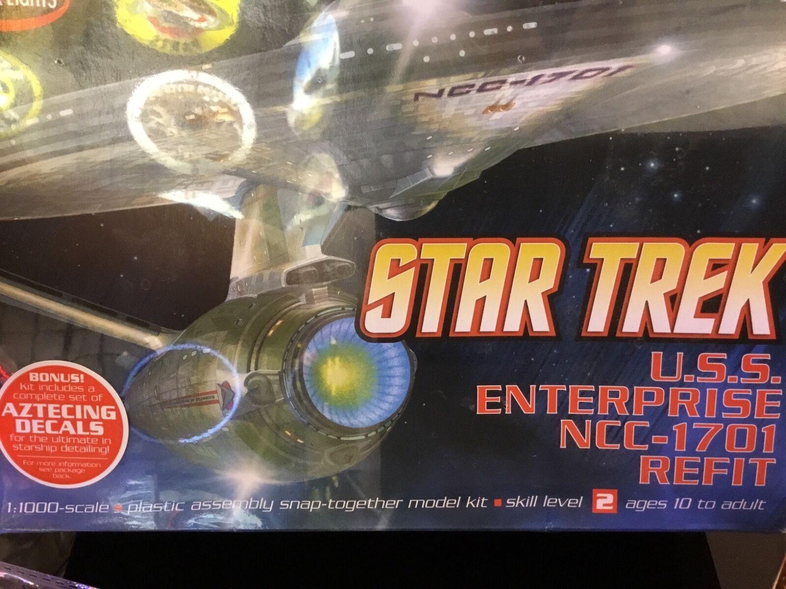 Star trek uss enterprise ncc refit 1 scale model - 1 1000 Uss Enterprise Ncc 1701a Star Trek