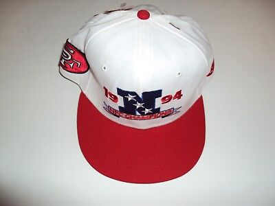 SAN FRANCISCO 1994 NFC CHAMPIONS Vintage Snap Back Hat Adjustable New With Tags