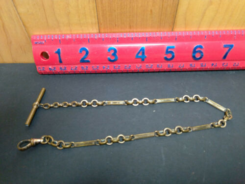 """Antique Pocket Watch Chain 13"""" G.F. Links and Bars"""