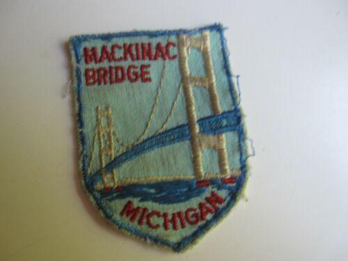 Vintage Mackinac Bridge Michigan Travel Patch BIS