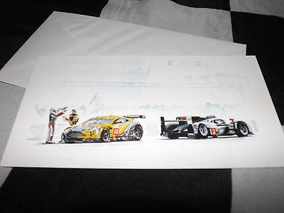 AUDI R18 #2 2011 WINNER ASTON MARTIN V8 LE MANS 24 NEW CHRISTMAS GREETINGS CARD