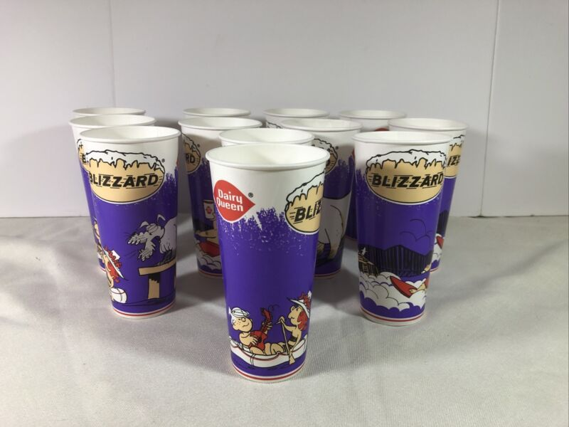 Vintage 1997 Dennis The Menace Dairy Queen Cups Lot Of 12 Unused New Old Stock