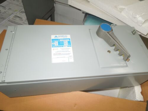 American Qmqb2036r 200a 3p 600v Fusible Panelboard Switch Surplus