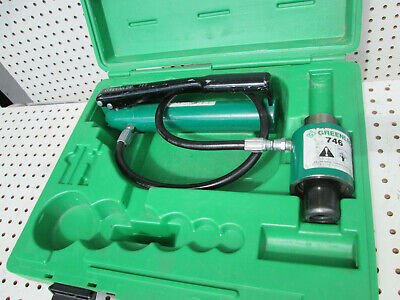Rebuilt Greenlee 767 Hydraulic Knockout Hand Pump And 746 Ram Is Case