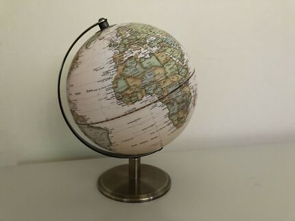 Antique Style Textured World Globe with Brass Stand