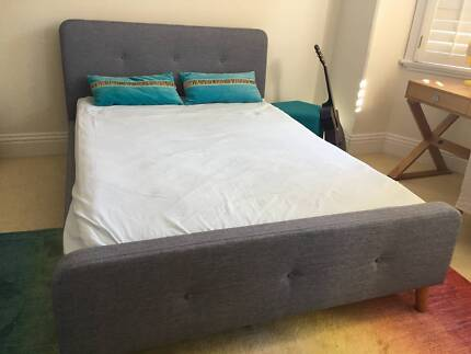 Funky Double bed (charcoal blue)
