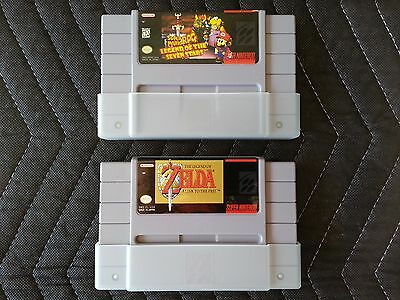 Super Nintendo (SNES) 2 Game Lot - Super Mario RPG & Zelda: A Link to the