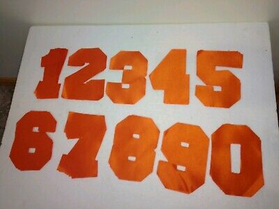 6 Orange Twill Numbers Heat Press Lot Of 99 Stahls Twill Numbers