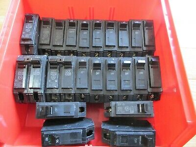 Lot Of Ge Circuit Breakers 19 20 Amp 1 40 Amp 2 60 Amp 2 100 Amp