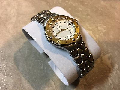 EBEL Ladies Sportwave Watch 18K Gold & Stainless Steel – E6087621 VG Condition