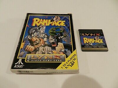 Rampage Atari Lynx Game in Box Boxed Cart Tested