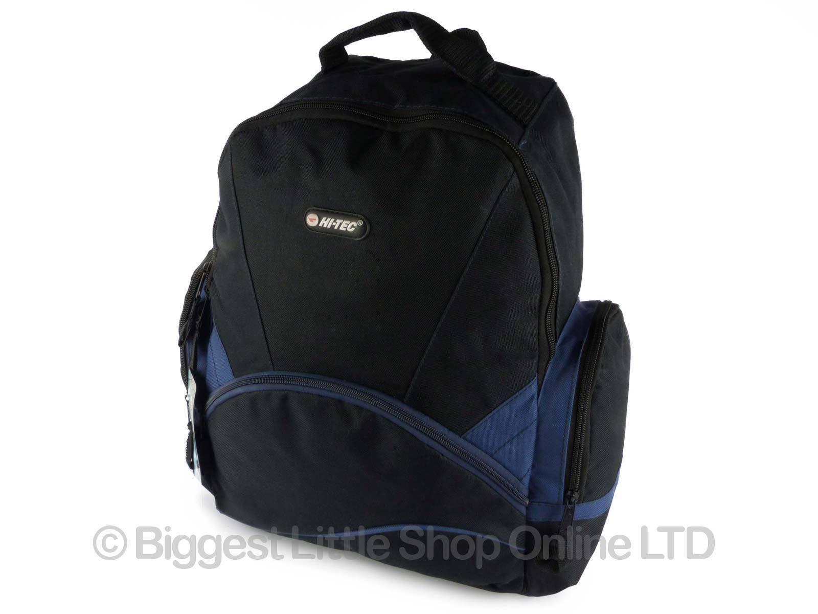 hi tec large mens boys backpack rucksack school or college bag travel 4 colours ebay. Black Bedroom Furniture Sets. Home Design Ideas