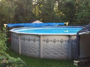 Above ground pool 21 ft / piscine hors terre 21 pieds