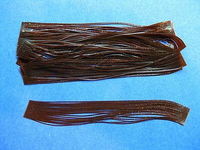 10 Silicone Skirt Tab T65   Brown Or GL Lure Making Craft Bass Jig Spinner Bait