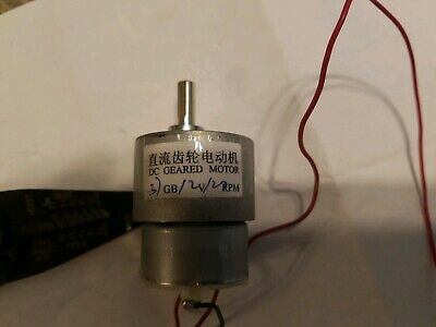 Dc12v 6mm Shaft Electric Gearbox Motor 120 Rpm 10.00