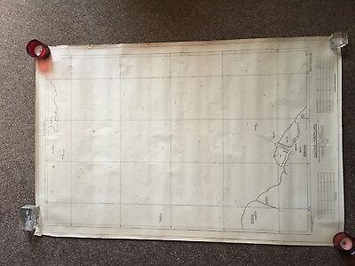 USN Nautical Soundings map of Rio de La Plata - between Argentina & Uruguay 1955