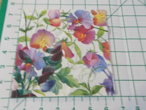 """Two Decorative Luncheon Napkins for Decoupage """"Sweet Pea"""""""