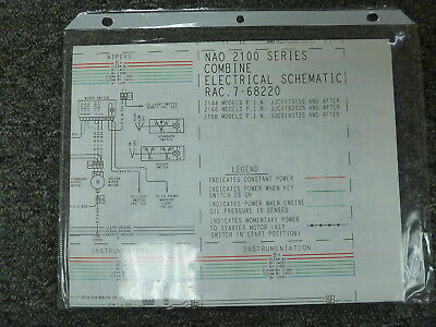 Case 2144 2166 2188 Combine Electrical Wiring Schematic Diagram Manual