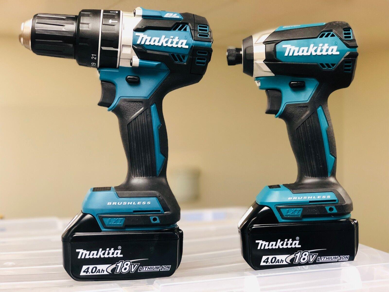 "Makita XPH12Z 18V Brushless 1/2"" Hammer Drill + XDT13Z Impac"