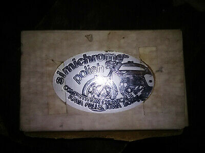 Vintage Simichrome Polish Competition Chemicals Motorcycle Stickers & Kit