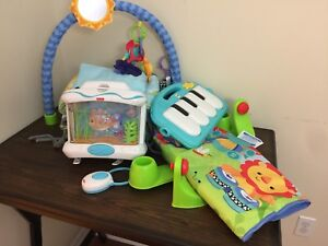 Baby toys , crib bumper and bath support