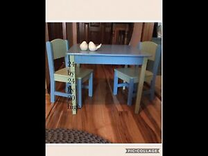 Child's table and chair set made by Childcraft