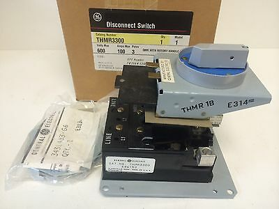 New In Box Ge General Electric 100a Rotary Disconnect Switch Thmr3300