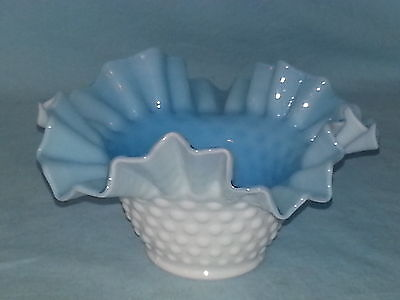 Kanawha Cased Glass Bowl, Blue & White