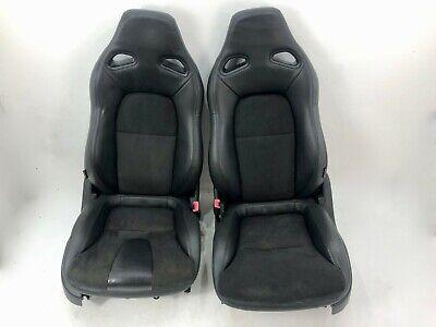 GENUINE NISSAN GTR R35 RECARO BLACK SUEDE LEATHER BUCKET SEATS : GT-R SKYLINE