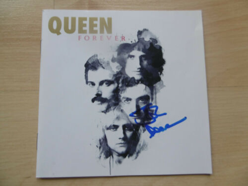 "John Deacon ""Queen"" Autogramm signed CD Booklet ""Queen Forever"""