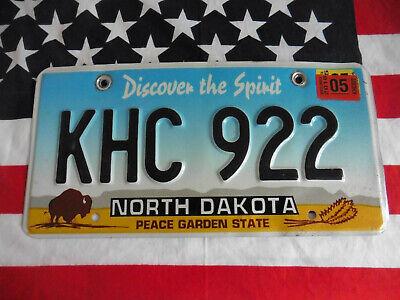 US NORTH DAKOTA KHC 922 BUFFALO AUTO CAR KENNZEICHEN NUMMERNSCHILD PLATE OF USA