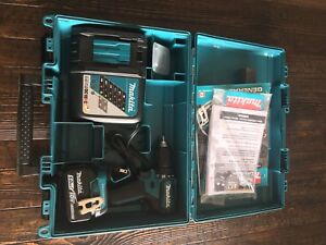 MAKITA Drill, Rapid  Charger, 5.0 Ah Battery and Case