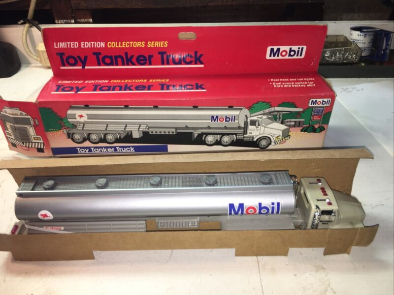 Mobil 1993 Limited Edition Toy Tanker Truck New Only Out Box For Photos!