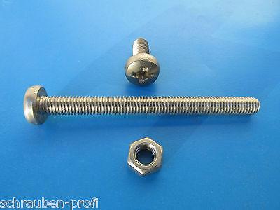 100 Edelstahl V2A Din 7985 Gewinde Schrauben M2 x  3 mm