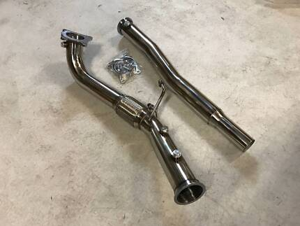 """VW MK6 Golf R 3"""" High-flow Stainless Downpipe"""