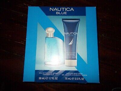 NEW NAUTICA BLUE EDT COLOGNE Spray 1.7 oz / Body Wash 2.5 oz MEN Gift Set