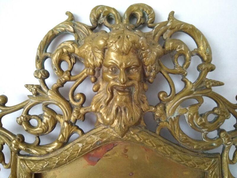 P.E. GUERIN NY Antique ART NOUVEAU Victorian FIGURAL BACCHUS Brass Mirror Frame