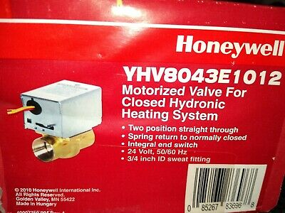 New - Honeywell Yhv8043e1012 Motorized Hydronic Zone Valve 34 Sweat 24v
