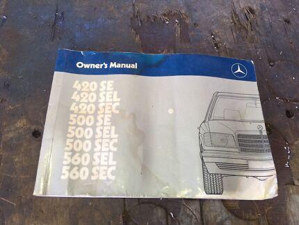 Vintage Mercedes Benz owners manual