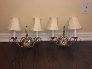 A pair of wall sconce for sale $150 OBO
