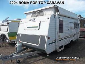 2004 ROMA SOV'REIGN. 17' POP TOP CARAVAN. GALVINISED CHASSIS. Heathcote Sutherland Area Preview