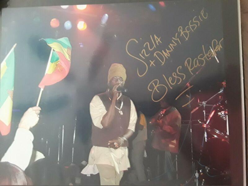 Coa from jsa..Sizzla kalonji 16x20 Rare Reggae Autograph-comes with coa from jsa