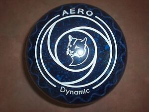 Aero DYNAMIC Lawn Bowls Size 3.5XH WB24 Blue Speckled Zig Zag Surfers Paradise Gold Coast City Preview