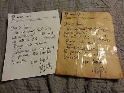Back to the future Doc's letter from marty prop replica 1955 and 1985 - Back To The Future Doc
