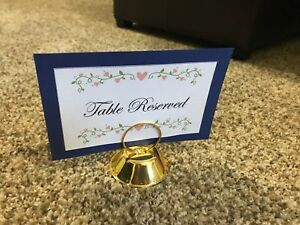 20 Gold wedding place card holders