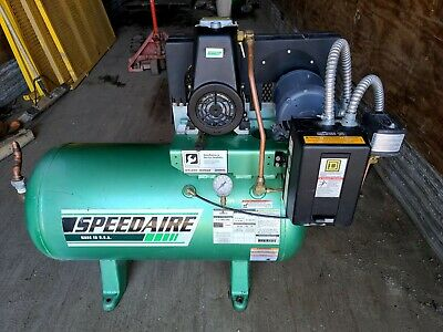 Speedair Portable Air Compressor 5z697a 44 Hp 90psi Max 3ph