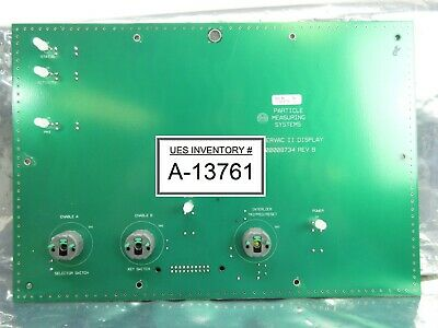 Particle Measuring Systems 1000008735 Fibervac Ii Display Board Pcb Rev. B Used