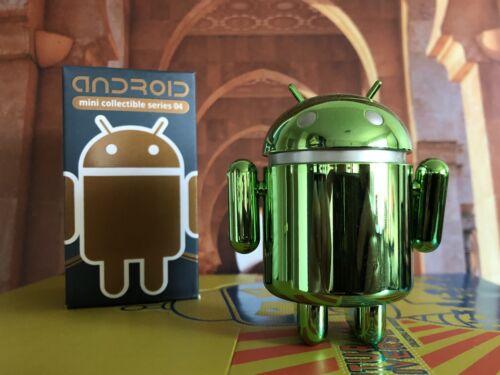 "Android Series 04 Mini Figures 3"" Google Green Chrome Chas"